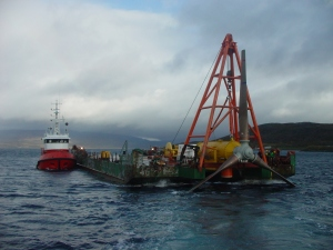 HS300 Tidal turbine installation