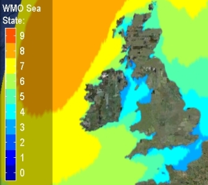 Wave State Forecast around the UK