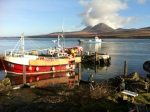 Jura from Port Askaig with Fishing Boat