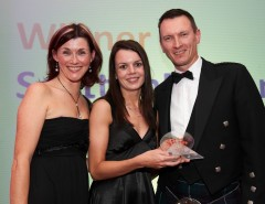 Laura Watson from SPR receives the award